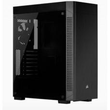 CORSAIR 110R s oknem Tempered Glass, černá Midi-Tower ATX PC Case, USB3 + audio, bez zdroje