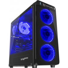 NATEC Počítačová skříň Genesis IRID 300 BLUE MIDI (USB 3.0)