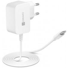 Connect IT InWallz SNAKE nabíjecí adaptér s kabelem USB-C, 2,4A, bílý