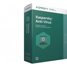 KASPERSKY Anti-Virus 2019 CZ, 2PC, 1 rok