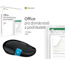 MICROSOFT Office 2019 pro domácnosti a podnikatele SK + myš zdarma