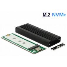 DeLock Externí pouzdro pro M.2 NVMe PCIe SSD se SuperSpeed USB 10 Gbps (USB 3.1 Gen 2) USB Type-C