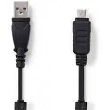 Nedis CCGP60802BK20 - Datový kabel k Fotoaparátu | USB A Zástrčka - Olympus 12-pin Zástrčka | 2 m |