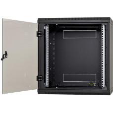 TRITON Nástěnný rack jednodílný 12U (š)600x(h)595 perforované dveře černý