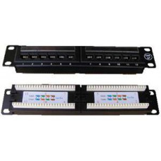 "DATACOM Patch panel 10"" UTP cat5e 12portů"