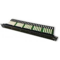 DATACOM Patch panel ISDN 50p.1U Integrovaný  BLACK, 19
