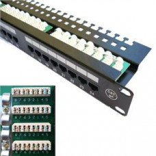 DATACOM Patch panel 24x RJ-45,Cat5e UTP, 19