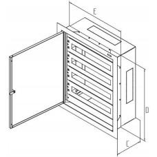 TRITON Rozvaděč instalační podomítkový 1035x650x250 plech