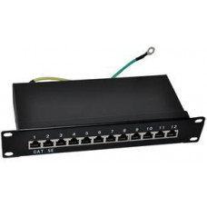 "FULL Patch panel 10"" STP Cat5e 12 portů"