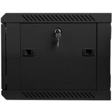 LANBERG Nástěnný rack 19'' 6U 600X450mm černý flat pack