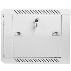 LANBERG Nástěnný rack 19' 6U 600X450mm šedý flat pack