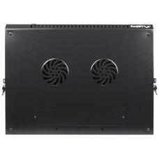 LANBERG Nástěnný rack 19'' 12U 600X450mm černý flat pack