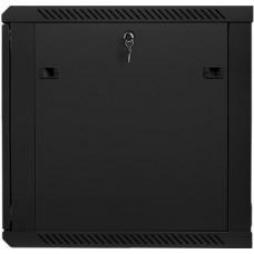 LANBERG Nástěnný rack 19' 12U 600X600mm černý flat pack