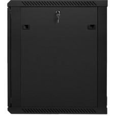 LANBERG Nástěnný rack 19' 15U 600X600mm černý flat pack