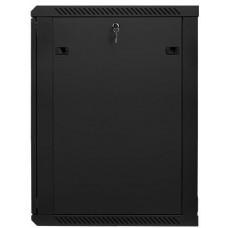 LANBERG Nástěnný rack 19'' 18U 600X600mm černý