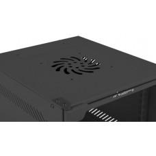 LANBERG Nástěnný rack 10'' 4U 280x310mm černý flat pack