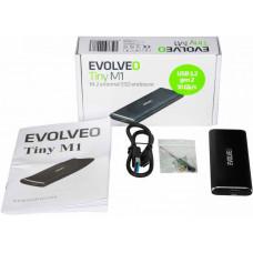 EVOLVEO Tiny M1, 10Gb/s, M.2 externí rámeček, USB A 3.1
