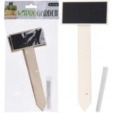 cedulka zahradní v.21cm s křídou (4ks)