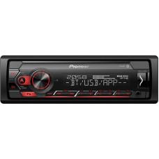 PIONEER MVH-S320BT autorádio s USB a Bluetooth červené