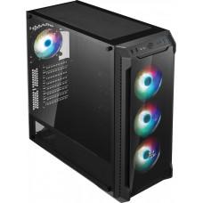 FORTRON/FSP FSP/Fortron ATX Midi Tower CMT520 PLUS black, průhledná bočnice, 4 x A.RGB LED 120 mm
