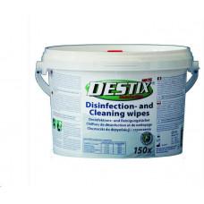 DCLEAN DESTIX Dezinfekční čistící utěrky MK75 v dóze (26x27cm, 150 ks), bezalkoholová báze