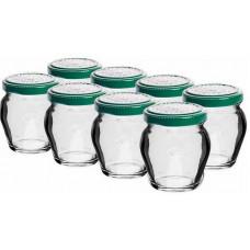 BIOWIN sklenice zavařovací 106ml + víčka barev. 53 (8ks)