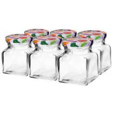 BIOWIN sklenice 155ml + víčka barev. 55 (6ks)