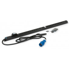 TRITON 20xIEC C13 bezp.,4xIEC C19,2x16A jistič,3x6.0mm 3m kabel 32A IEC60309,RAL9005