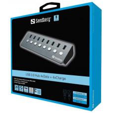 Sandberg USB-A 3.0 Hub do 4xData + 4xCharge