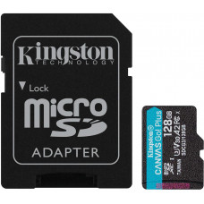 KINGSTON 128GB microSDXC Kingston Canvas Go! Plus A2 U3 V30 170MB/s + adapter