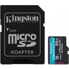 KINGSTON 64GB microSDXC Kingston Canvas Go! Plus A2 U3 V30 170MB/s + adapter