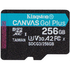 KINGSTON 256GB microSDXC Kingston Canvas Go! Plus A2 U3 V30 170MB/s bez adapteru