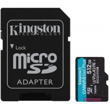 KINGSTON 512GB microSDXC Kingston Canvas Go! Plus A2 U3 V30 170MB/s + adapter
