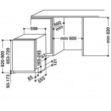 Whirlpool WIF 4043 DLGT E myčka nádobí vestavná plně integrovaná 60cm