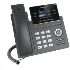 Grandstream GRP2612W [VoIP telefon - 2x SIP účet, HD audio, 16 prog.tl.+4 předvoleb, 2xLAN 100Mbps