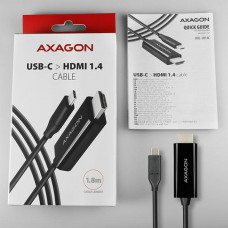 Axagon RVC-HI14C, USB-C -> HDMI 1.4 redukce / kabel 1.8m, 4K/30Hz