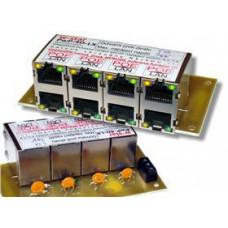 OEM 4portový napáj. panel s ochranou proti přepětí 60V