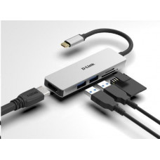 D-Link 5-in-1 USB-C Hub with HDMI and SD/microSD Card Reader