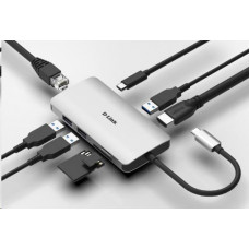 D-Link 8-in-1 USB-C Hub with HDMI/Ethernet/Card Reader/Power Delivery