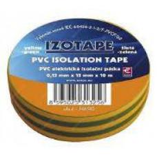 PREMIUMCORD Izolační páska PVC 15/10 zelená/žlutá