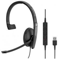 SENNHEISER SC 130 USB headset - jednostranná sluchátka s mikrofonem