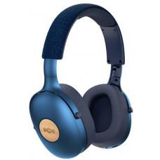 Marley Positive Vibration XL Bluetooth 5.0 - Denim, sluchátka přes hlavu s ovladačem a mikrofonem