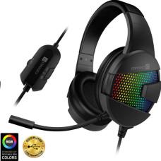 Connect IT EVOGEAR Ed. 2 herní sluchátka s mikrofonem,RGB podsvícení, USB,  ČERNÁ