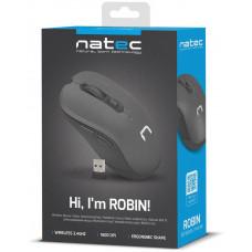 NATEC bezdrátová optická myš ROBIN 1600DPI černá