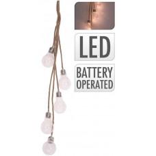 osvětlení závěsné 5 žárovek, 3LED