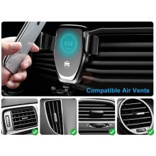 1stCool bezdrátová hliníková QI rychlo nabíječka do auta 5W 7,5W 10W Black
