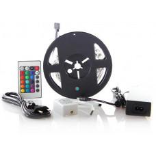 Solight LED světelný pás, RGB, 3m, sada s 12V adaptérem a dálk. ovladačem, 7,2W/m, IP20