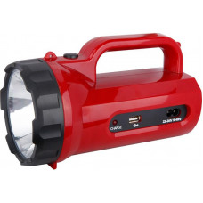 Solight LED svítilna nabíjecí s power bankem, 5W, 235lm, červená