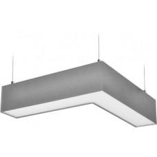 Solight LED lineární závěsné osvětlení, L konektor 18W, 1500lm, Lifud, 3 roky záruka, stříbrná