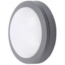 Solight LED venkovní osvětlení kulaté, šedé, 13W, 910lm, 4000K, IP54, 17cm